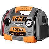 POTEK Jump Starter Démarreur 1000A/150psi de Voiture Booster Batterie\Alimentation Eléctrique d'urgence avec Compresseur d'air(Gonfleur de Pneu) et LED Indicateur,pour véhicules ,ballons,bateaux