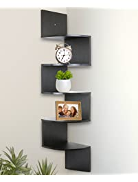 Greenco 5 Tier Wall Mount Corner Shelves.