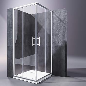 SONNI Mampara Ducha 100x90cm,Angular Puertas Corredera,Cabina de Ducha Retangular con Vidrio Templado de Seguridad 5mm con Plato de Ducha: Amazon.es: Bricolaje y herramientas