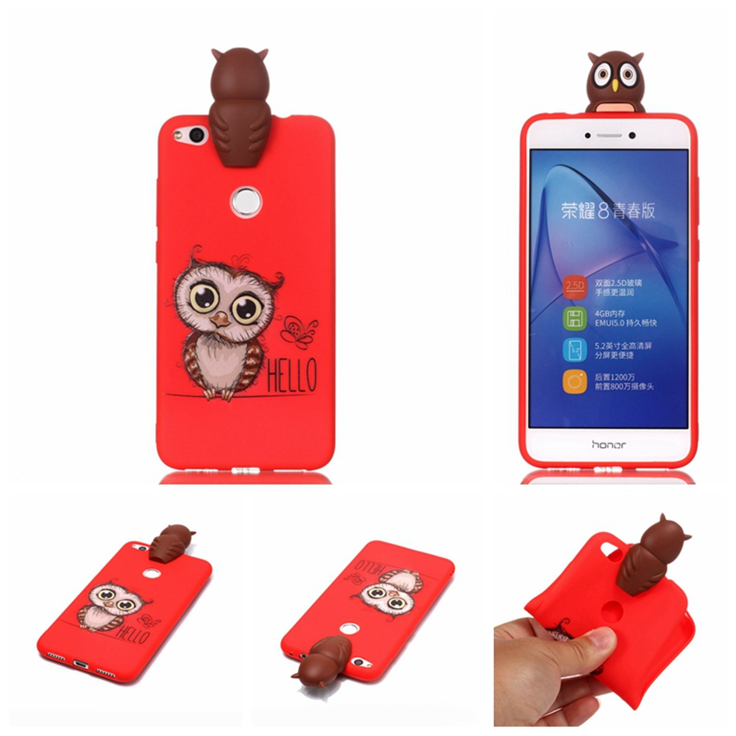 Amazon.com: Case for Huawei P8 Lite 2017 (5.2 inch) LJSM owl ...