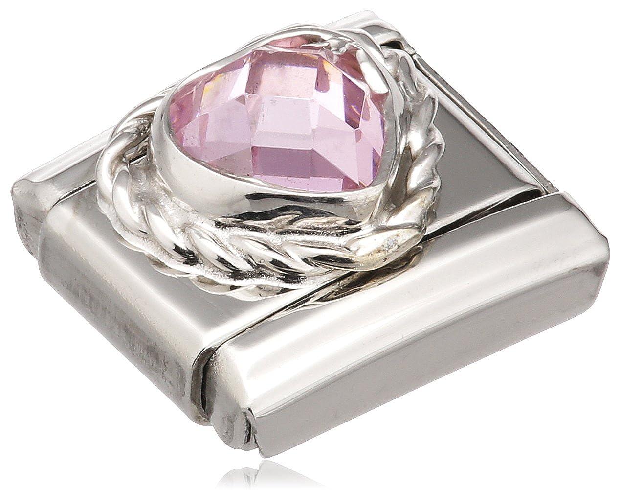 Nomination 330603/003 - Maillon pour bracelet composable Femme - Acier Inoxydable- Oxyde de Zirconium 330603-003