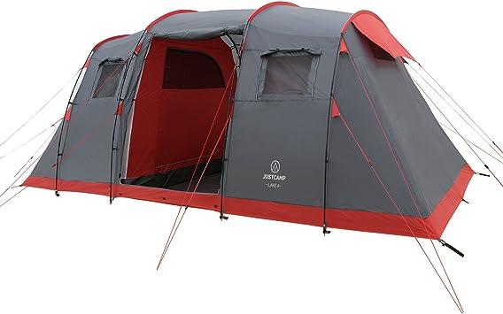 JUSTCAMP Lake 4 Tenda da Campeggio 4 posti 2 camere (470 x