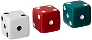 School Smart Dotted Dice Set – Assorted Colors - Set of 36