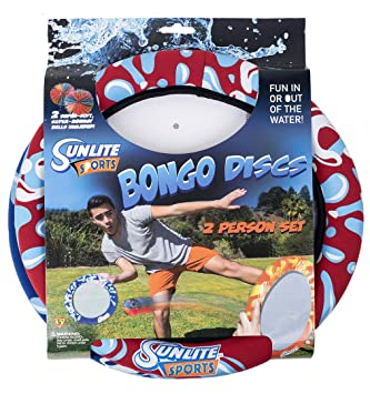 Sunlite Sports Bongo Discs– Ball Paddle Game with Disc Paddles- Ball Throwing Water Outdoor