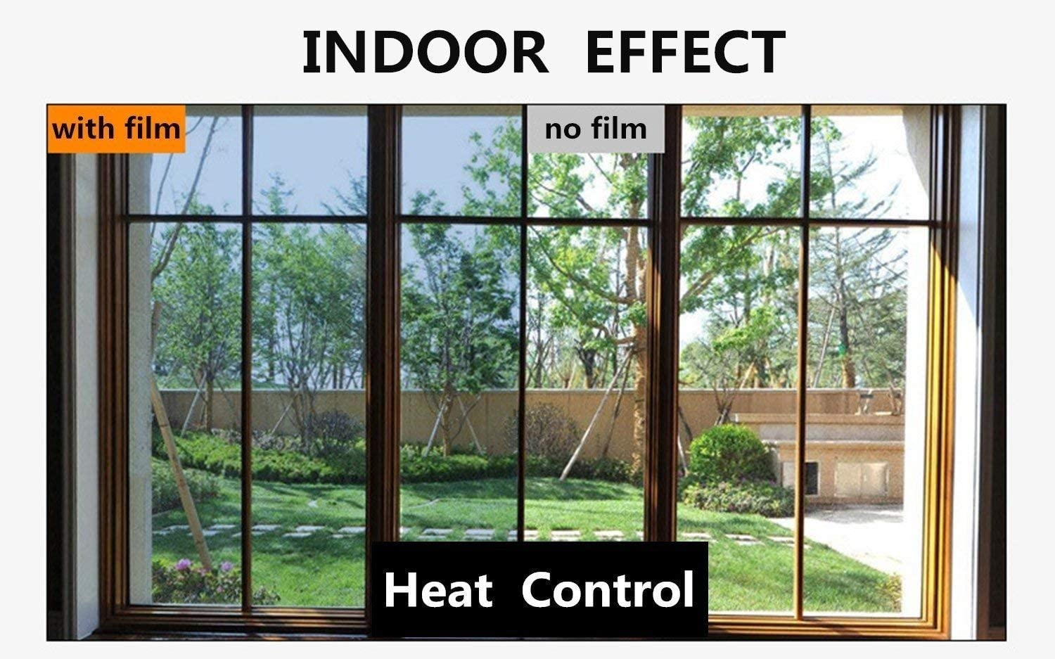 Timeet Window Film One Way Mirror Reflective Anti UV Self Adhesive Solar Film Decorative Static Cling Heat Control Privacy Window Tint for Home and Office (17.7 x 78.7,Silver)