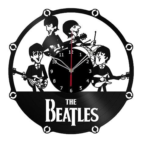 The Beatles reloj de pared de disco de vinilo arte hecho a mano Decor único vinilo