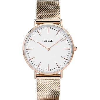 CLUSE La Bohème Mesh Rose Gold White CL18112 Women s Watch 38mm Stainless  Steel Strap Minimalistic Design 009879bb5ab3