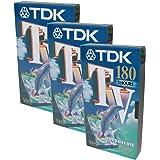 TDK TV E180 3 Hours VHS Video Tape E-180TVED Pack of 3