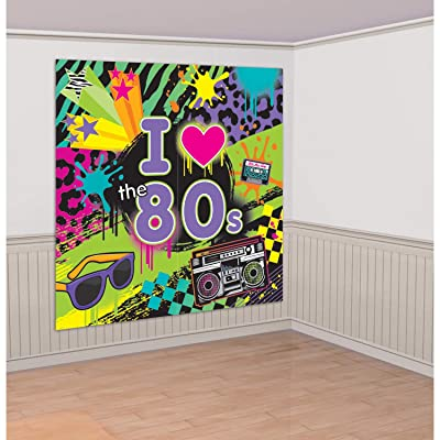 80's Party Scene Setters Wall Decorating Kit: Toys & Games