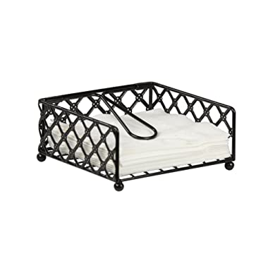 Home Basics NH44043 Lattice Flat Napkin Holder, 7.12  x 7  x 8