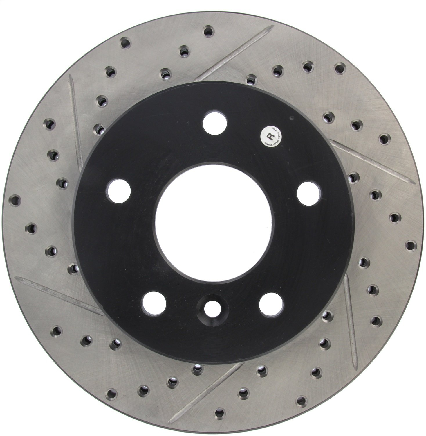 Front Right 1 Pack StopTech 127.22005R Sport Drilled//Slotted Brake Rotor