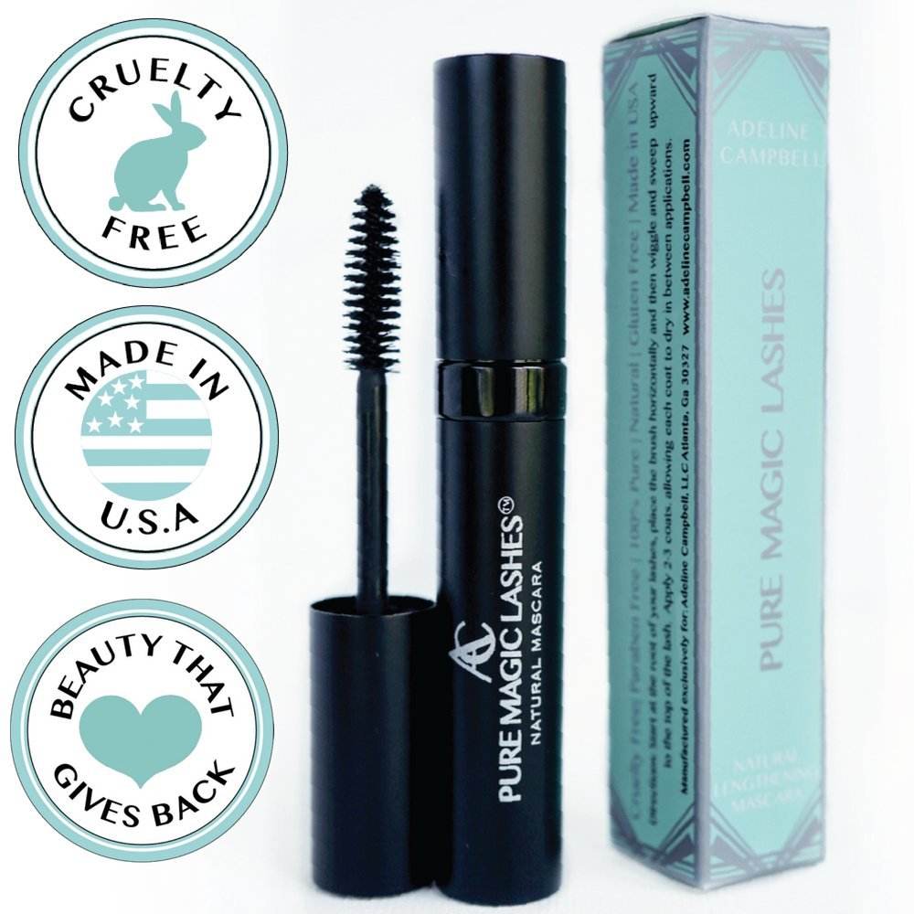 BOGO DEAL! FREE Natural Organic Mascara (BLACK) with purchase of Natural Eyelash Growth Serum - Long-lasting and lengthening mascara- CRUELTY FREE - MADE IN USA - Gluten Free -