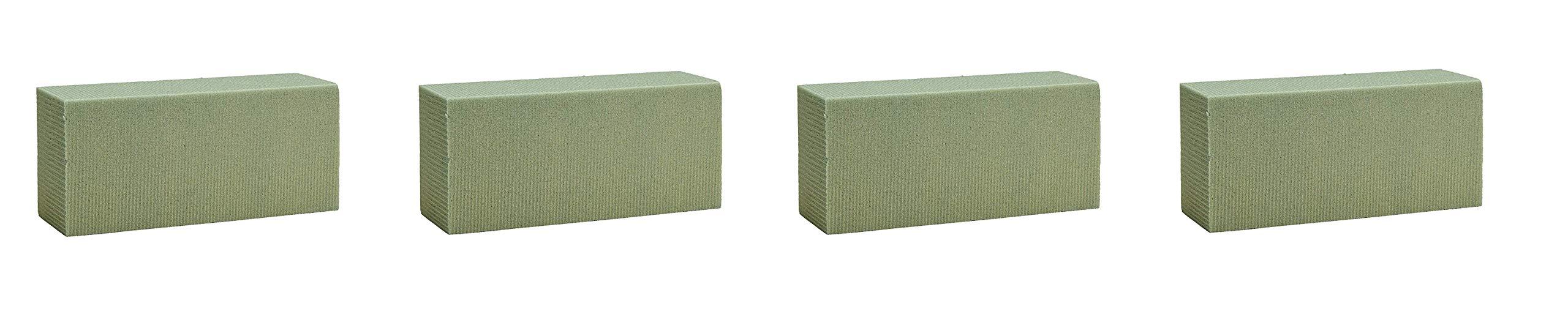 FloraCraft Floral Dry Foam 6 Piece Brick 2.6 Inch x 3.5 Inch x 7.8 Inch Green (Fоur Paсk)