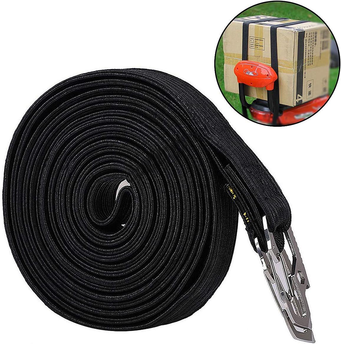 clip altamente elastica rosso ideale per carrelli a mano carro e campeggio corda elastica lunga con ganci di sicurezza in acciaio al carbonio Runaup
