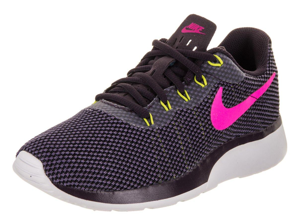 NIKE Women's Tanjun Running Shoes B00FLLLGFG 8.5|Port Wine Deadly Pink White