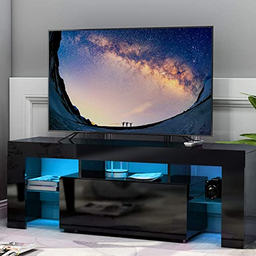 Leisure Zone - Mueble para televisor (Acabado Mate, con Luces LED ...