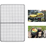 iBasingo Titanium Charcoal BBQ Grill Plate Ultralight Baking Cooling Rack Heavy Duty Dining Cooking Roasting Kitchen…
