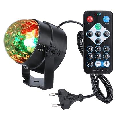 wedna LED Iluminación de discoteca iluminación 7 Color RGB ...