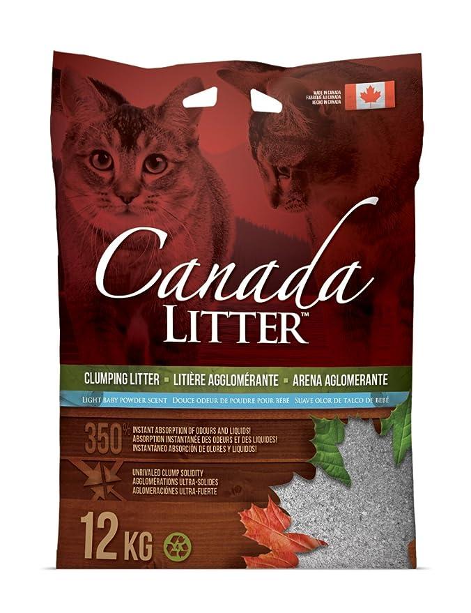 Canada Litter 0897438401406 - Arena Polvo de Talco 12 kg: Amazon.es: Productos para mascotas