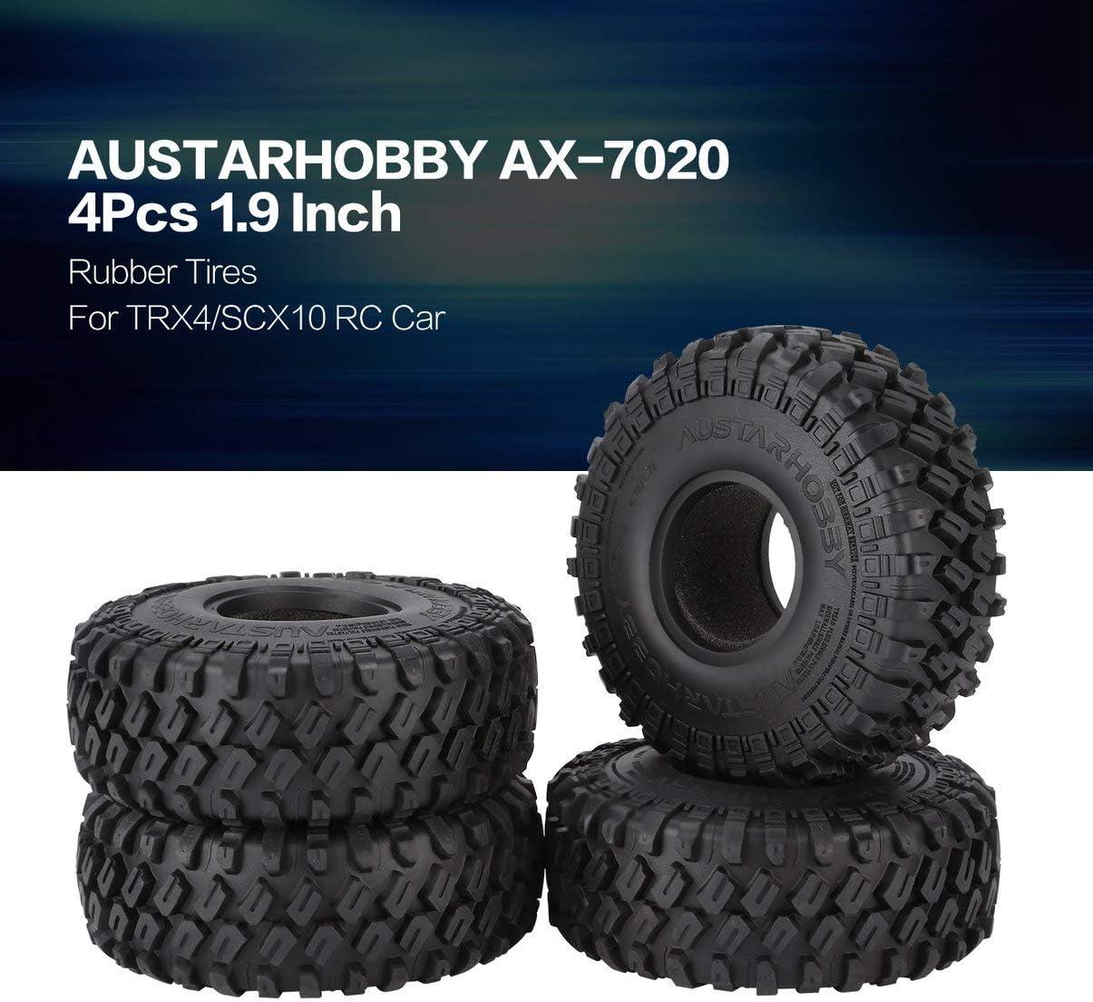 Austarhobby Ax-7020 4Pcs 1.9 Inch 122Mm 1//10 Rock Crawler Rubber Tires For D90 Trx4 Scx10 Axial Tf2 RC Car Accessories