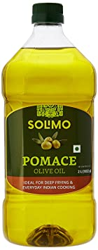 Amazon Brand - Solimo Pomace Olive Oil, 2L