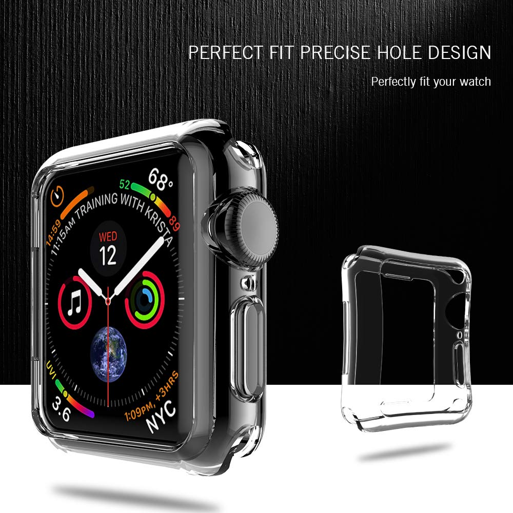 Lk Case For Apple Watch Series 4 44mm Soft Tpu Ultra 42mm Crystal Clear Thin Hd All Around Protective Bumper Cover