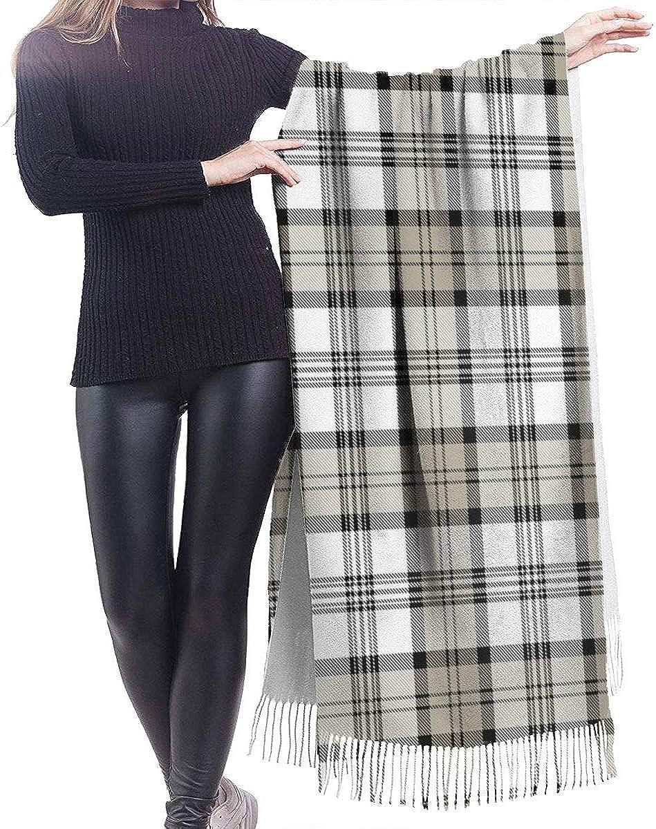 Plaid Cashmere Scarf Shawl Wraps Super Soft Warm Tassel Scarves For Women Office Worker Travel