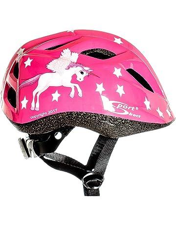 Casco de bicicleta para niña Flying Unicorn, color rosa con dibujos de unicornio, de