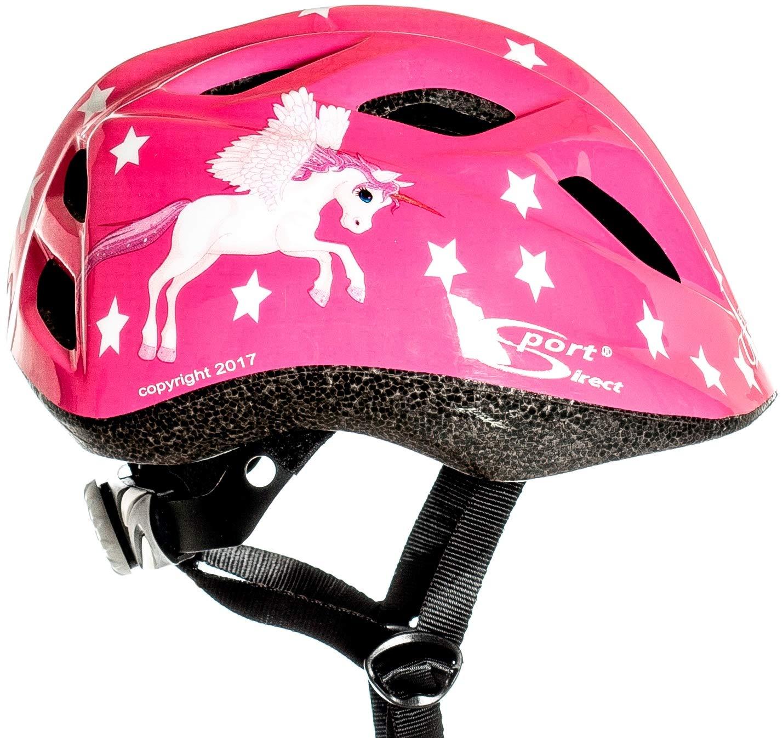 Sport Direct Casque de v/élo pour fille motif licorne A1:2012 48-52/cm couleur rose CE EN1078:2012