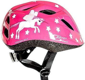 Casco de bicicleta para niña Flying Unicorn, color rosa con ...