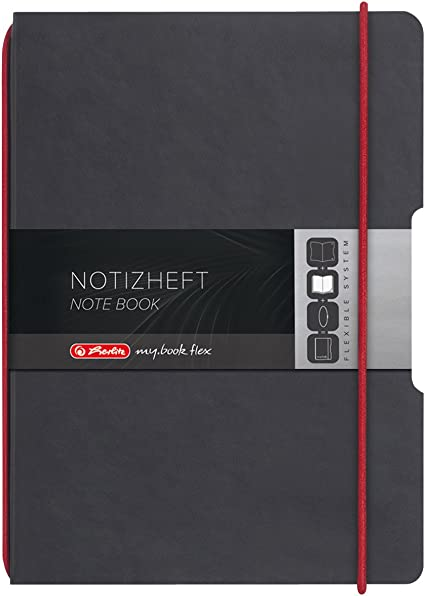 Herlitz Papier Ersatzeinlagen für Notizheft my.book flex A6 kariert 2 x 40 Blatt