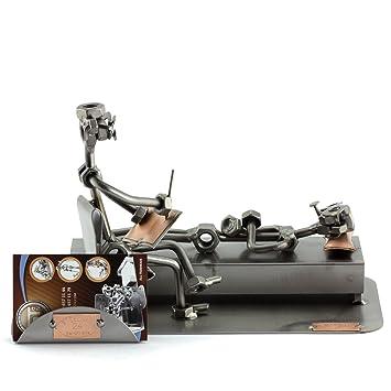 Steelman24 I Figurine En Mtal Psychologue Avec Porte Cartes De Visite Made In Germany