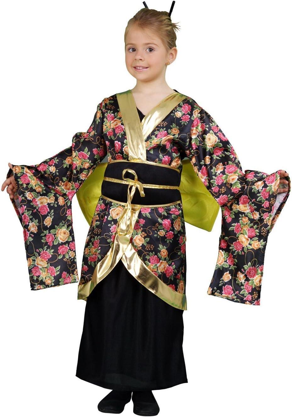 Disfraz de Geisha Estampada 10-12 años para niña: Amazon.es ...