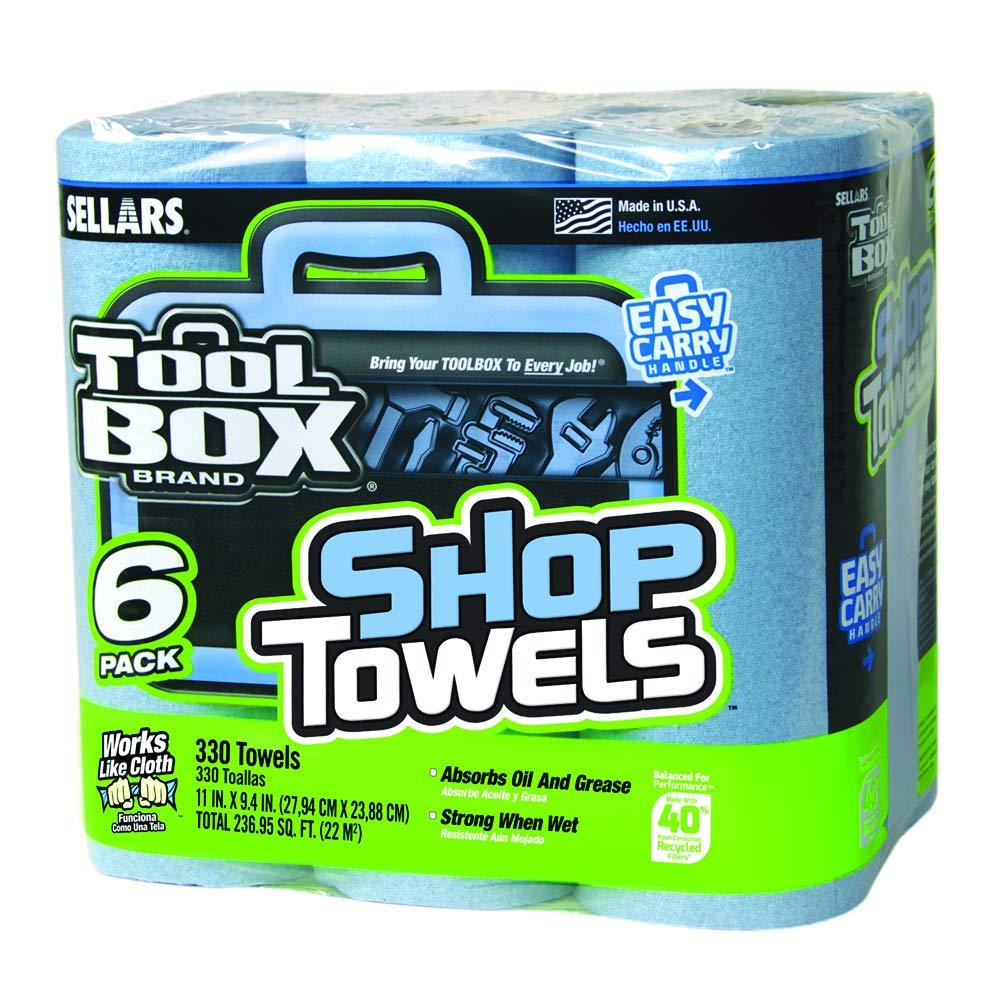 Sellars 54416 ToolBox ショップタオル 6枚パック 長さ11インチ x 幅9.4インチ ブルー 6ロール4パック 1ロール60枚 1-(Pack) 54416 24 B00GFZMIU4  1-(Pack)