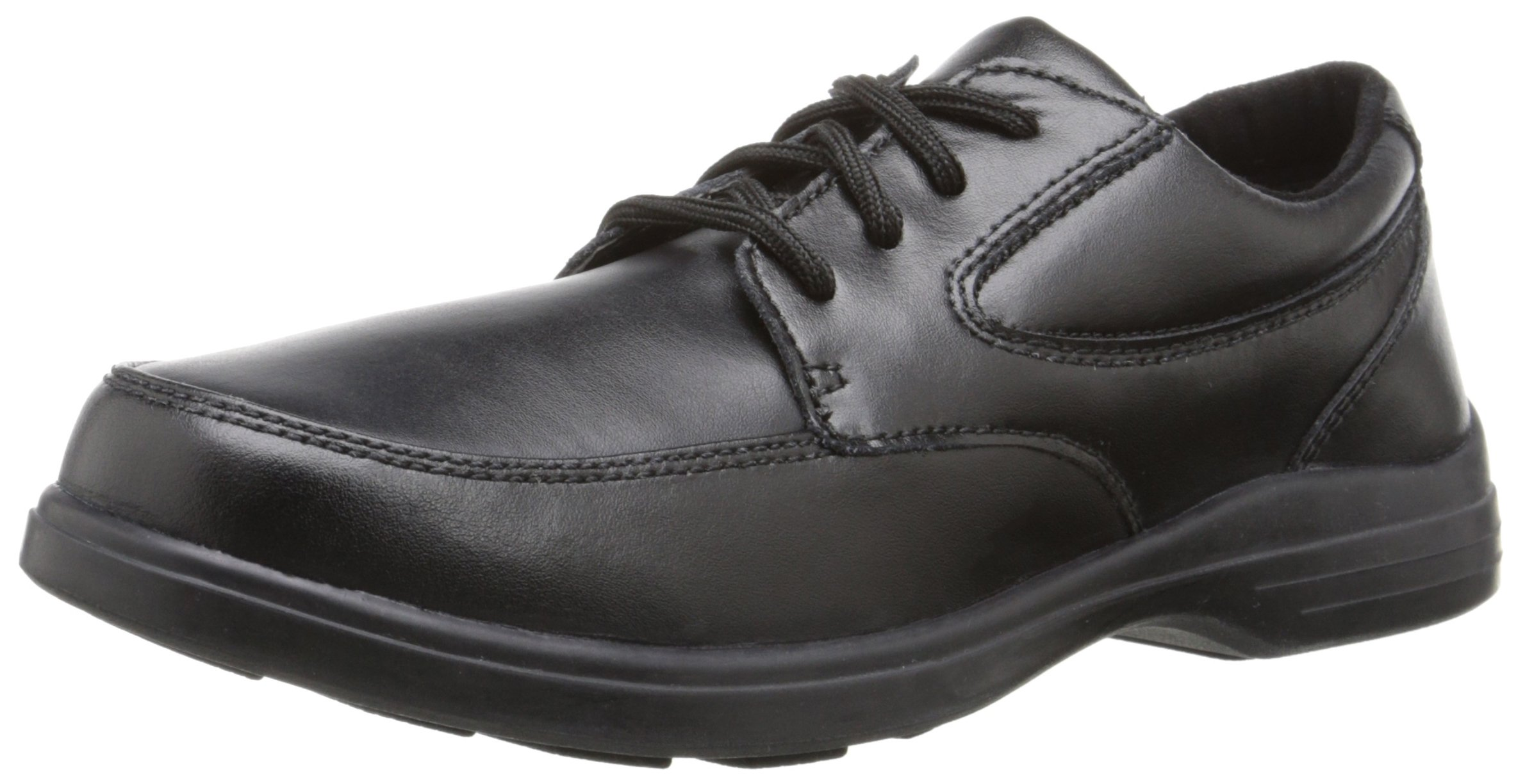 Hush Puppies Ty Oxford Uniform Dress Shoe (Toddler/Little Kid/Big Kid), Black, 7 M US Big Kid