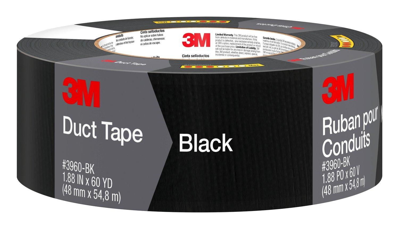 "Scotch 3960-BK Multi-Purpose Duct Tape Black 1.88/"" x 60 Yard"