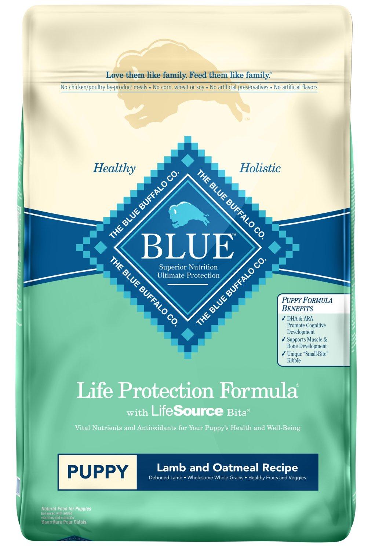 Blue Buffalo Life Protection Formula Natural Puppy Dry Dog Food, Lamb and Oatmeal 30-lb