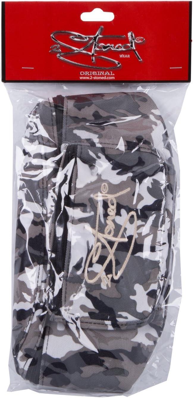 Grau Weiss 2Stoned Original H/üfttasche Bauchtasche in Schwarz Braun oder Camo mit Stick