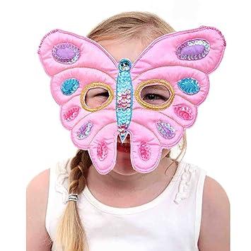 Lucy Locket - Máscara de mariposa color rosa para niña