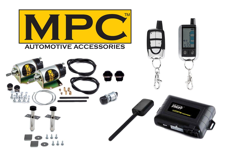 Amazon.com: MPC 2-Door 45lb Shaved Handle Door Popper with 2-Way Remote  Start & Alarm Combo Kit: Automotive