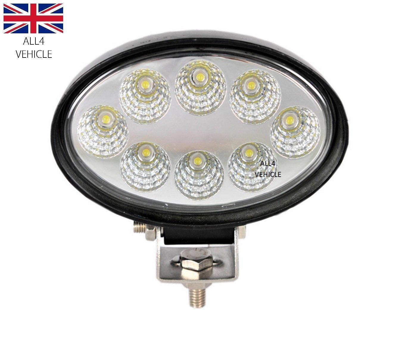 2 X HIGH POWER 12V 24V LED OVAL WORK LAMP FLOOD LIGHT TRUCK CAR 4X4 TRAILER VAN EAS LTD