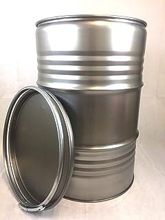 200 Liter Metallfass Spund innen unlackiert Smoker Stahlfass Ölfass ...
