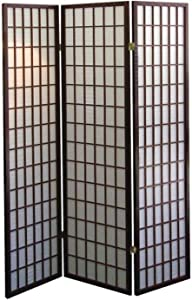 ORE International 3-Panel Room Divider, Cherry