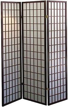 Amazon Com Ore International 3 Panel Room Divider Cherry Furniture Decor