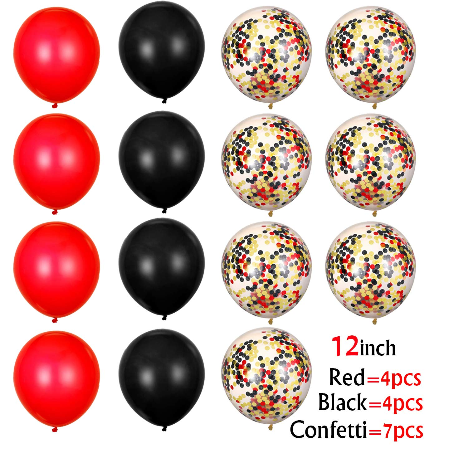 Black and Red 40th Birthday Decorations Red Happy Birthday Balloons Black Foil Fringe Curtain for Photo Booth Backdrop Paper Garland Red Number 40 Balloons 40 Birthday Decorations for Women Men