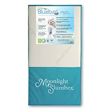 amazon com moonlight slumber crib mattress dual firmness