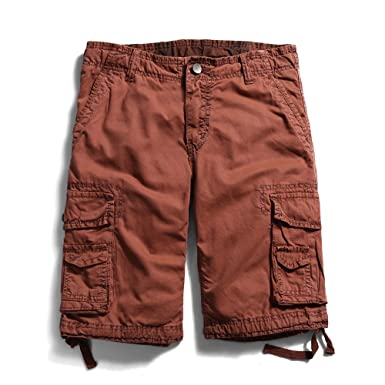 Men's Cotton Lesuire Multi Pockets Cargo Shorts | Amazon.com