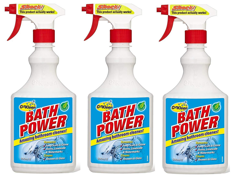 3 x OzKleen Bath Power Bathroom Cleaner 500ml