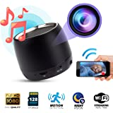 Spy Hidden Camera 1080p WIFI, Night Vision, Bluetooth Speaker Model,128 Gigas Capacity, Motion Detection Real-Time View, Online Monitoring Home Security Nanny Cam, iPhone/Android/PC Compatible