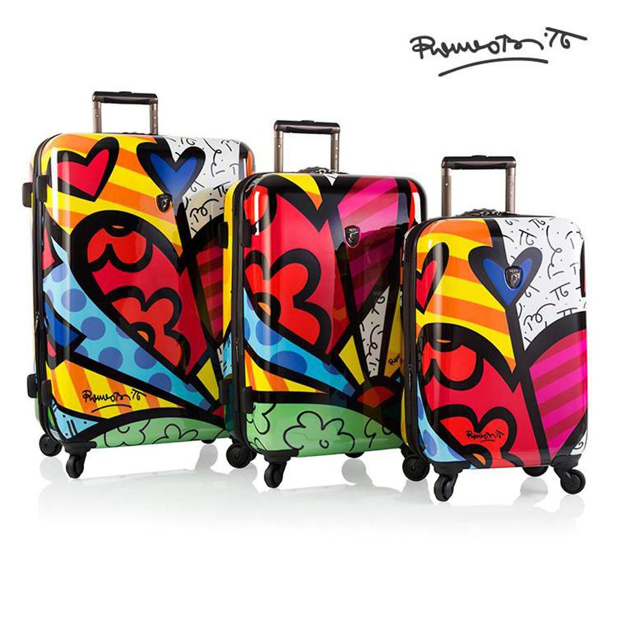 Romero Britto Brito Heys 4 Piece Luggage Set (A New Day)